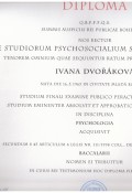 Diplom - jednooborová psychologie